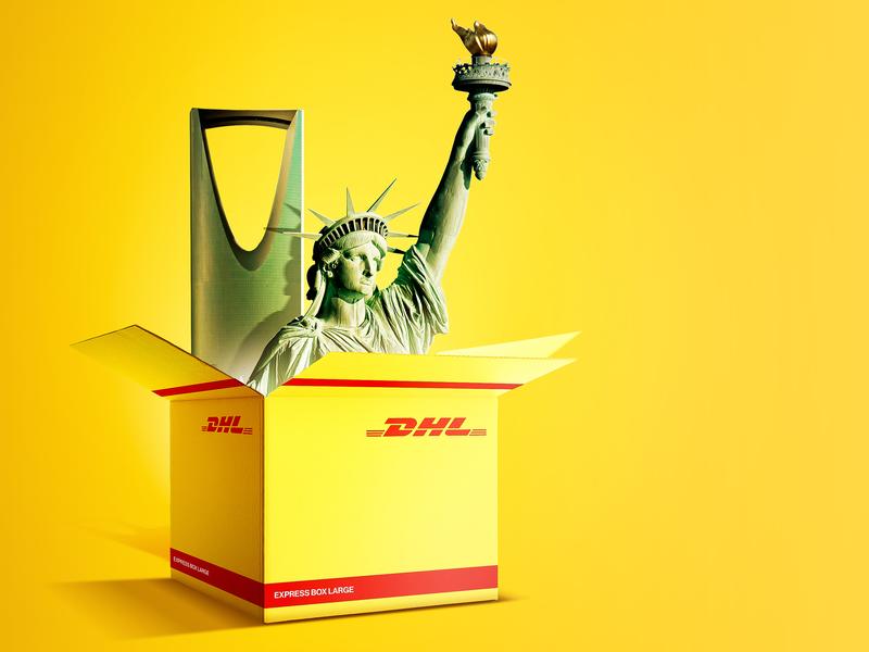 DHL USA to KSA by AbdallaGad on Dribbble