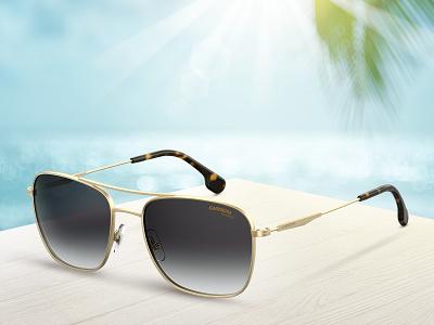 Carrera 130s advertising photo retouch artwork sunglasses campaign summer digital