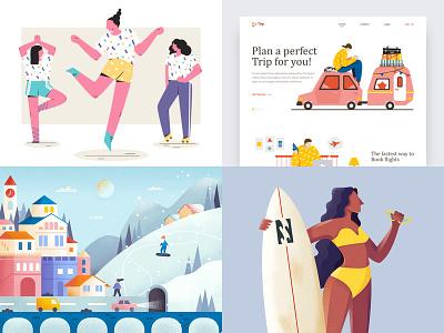 GoodBye, My 2018 design illustration