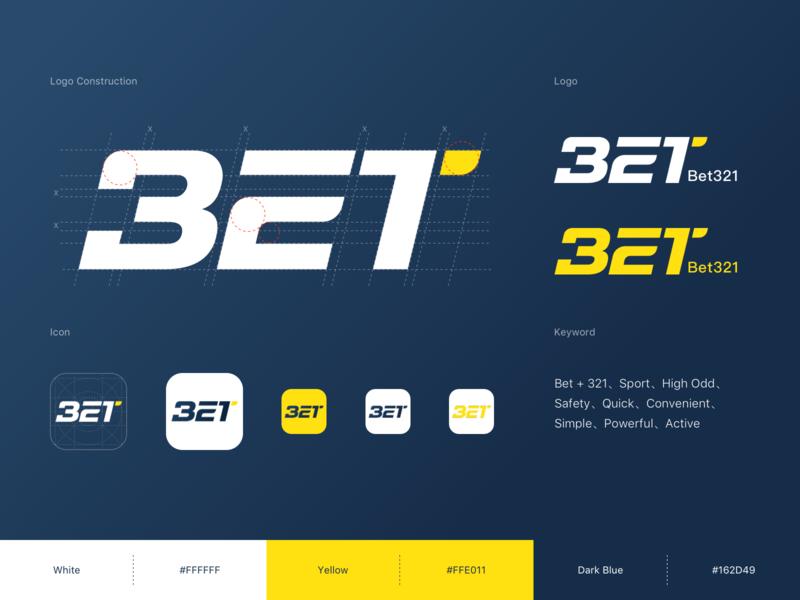 Logo For Bet321 sport app ux letter sport bet logo ui