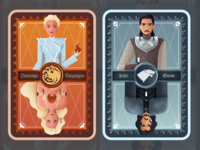 Character card for game of thrones