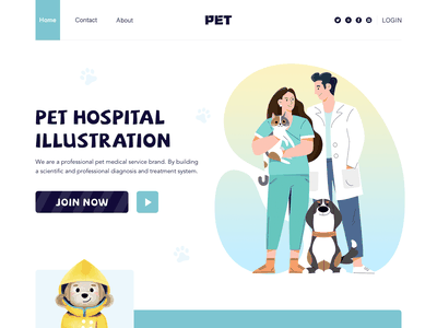 Pet Hospital Illustration hospital pet web character flat ui illustration