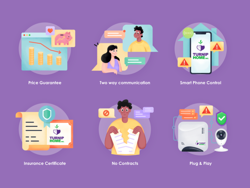 Illustration Icons insurance chat price icon branding card web character flat ui illustration