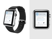 Apple Watch Tweet A Day app apple watch twitter tweet a day apple watch app iwatch wrist content