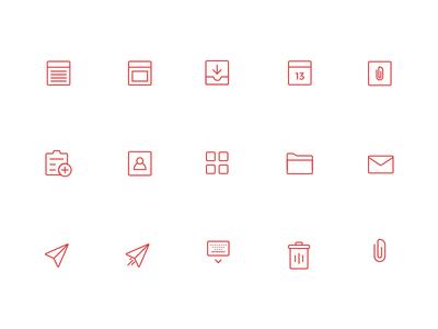 App icon set mobile custom line red icon set icon app