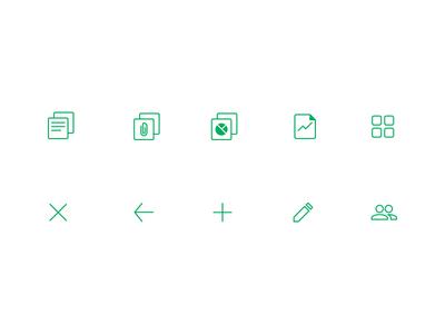 Green app icon set app icon icon set green line custom mobile