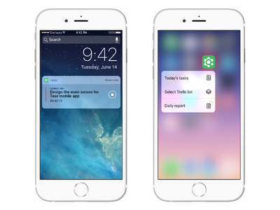 3d Touch and notifications 3d touch notification time management management time green app task