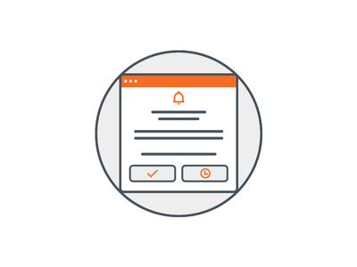 App onboarding white walkthrough schedule reminder orange onboarding mobile iphone chat app