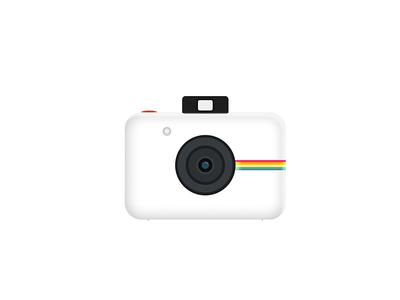 Camera made in Figma figma design figma icon photography photo white polaroid color camera