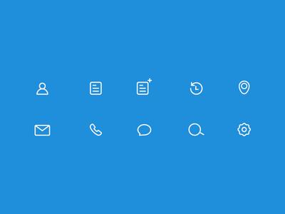 Icon set meeting icon set ux app gray blue ios mobile design icons