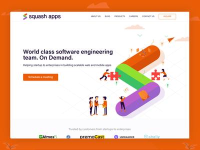 Squashapps Website website illustration design ui