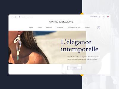 Marc Deloche - E-Shop webdesign website ui ux bijoux beauty luxury eshop ecommerce prestashop jewellery online jewellery store jewellery shop jewellery jewel