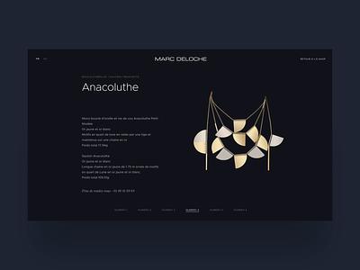 Marc Deloche - E-Shop webdesign website ui ux luxury beauty bijoux prestashop jewellery online jewellery store jewellery shop jewellery jewel ecommerce eshop