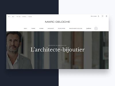 Marc Deloche - E-Shop webdesign website ui ux bijoux ecommerce beauty luxury eshop prestashop jewellery online jewellery store jewellery shop jewellery jewel