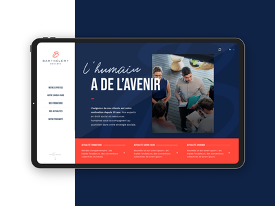 Barthélémy Avocats web design web art direction design formation advocate lawyer website interface ui webdesign ux
