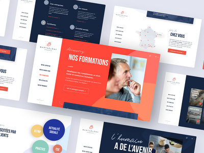 Barthélémy Avocats web design web art direction design lawyer advocate formation website interface ui webdesign ux
