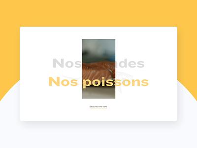 La Côte Et L'Arête restaurant foodporn food design website interface ui webdesign ux