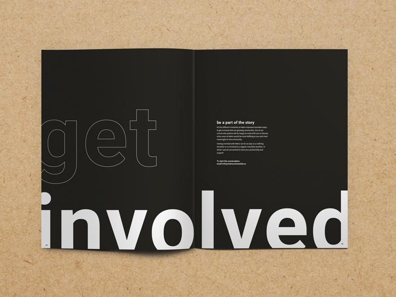Metro Newsletter large type sans serif newsletter