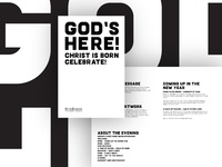 God's Here Christmas Celebration Design