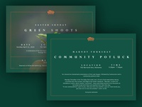 Green Shoots Easter Campaign Design - Printed Invite