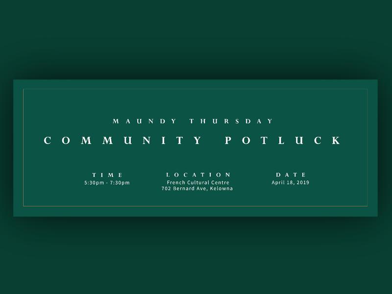Green Shoots Easter Campaign Design - Banner Invite serif church border invite green easter