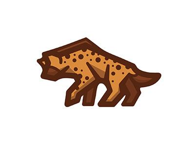 H is for Hyena laughter africa dog-like hyena illustration linework challenge alphabet animals