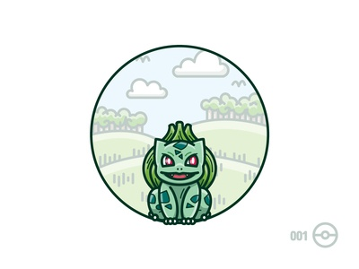 001: Bulbasaur (grass/poison)