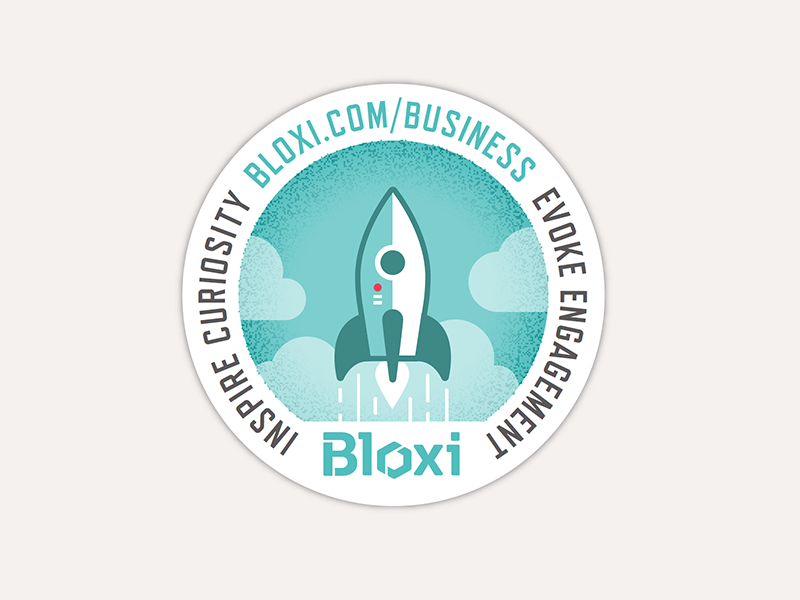 Bloxi Sticker rocket launch sticker