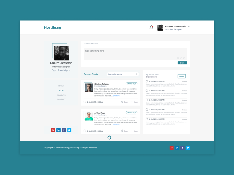 Blog Post profile blog posts blog ui flat minimal africa landing page design figma interface design clean
