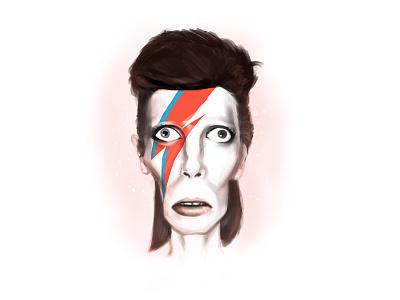 Mr. Bowie caricature musician artist davidbowie