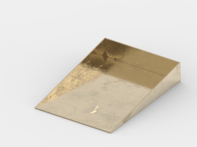 Brass tray box paper box accessories object product design box tray gold brass