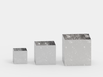 Silver boxes minimalism product design object simple boxes tray silver