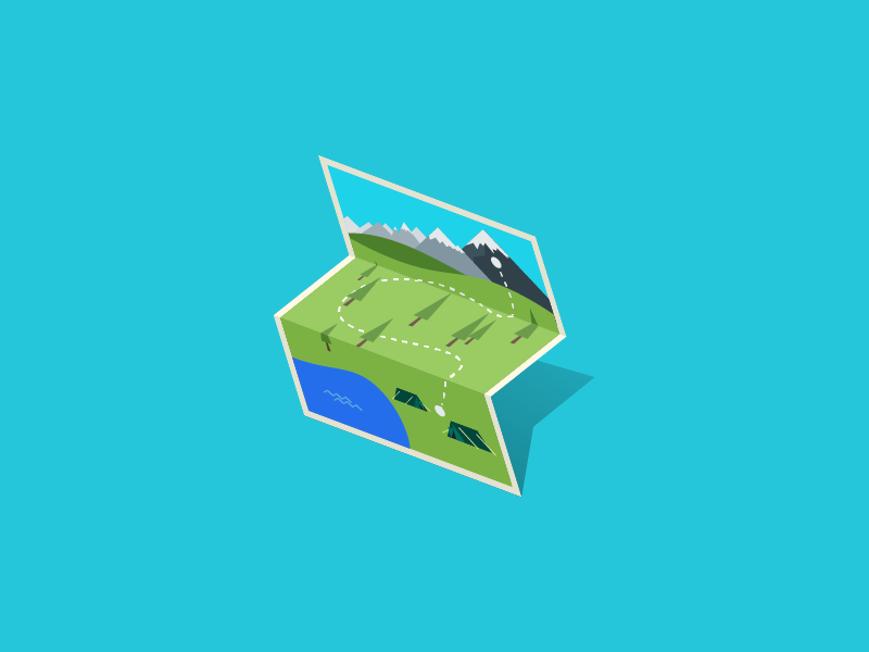 Map camping map