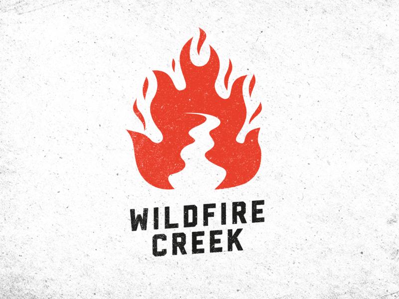 Wildfire Creek Branding wildfire logo fire branding