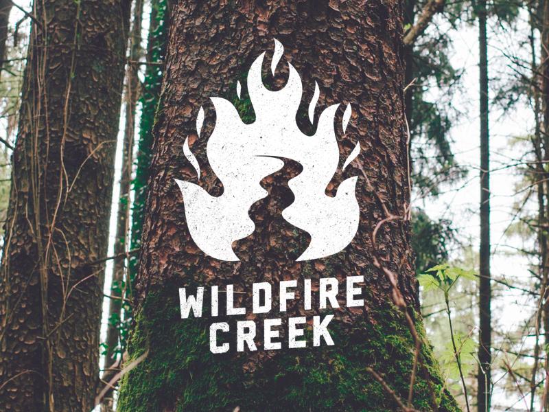 Wildfire Creek - Alternative river logo creek wildfire fire branding