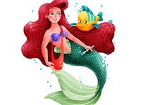 Ariel & Flounder