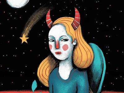 Madame moon horns horn