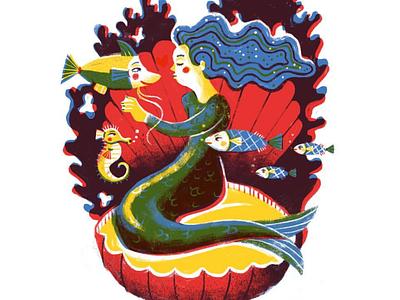 Kiss Me Quick fish mermaid kiss