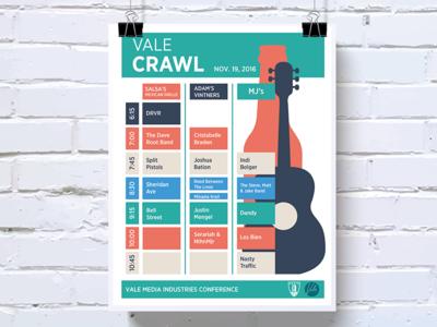 Vale Pub Crawl Flyer