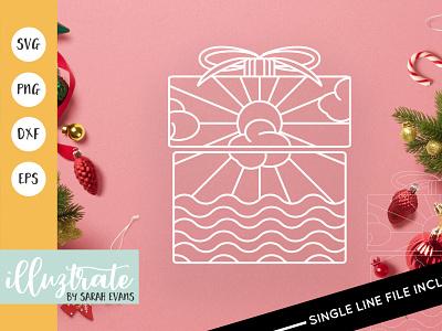 Christmas Present SVG Cut File christmas illustration