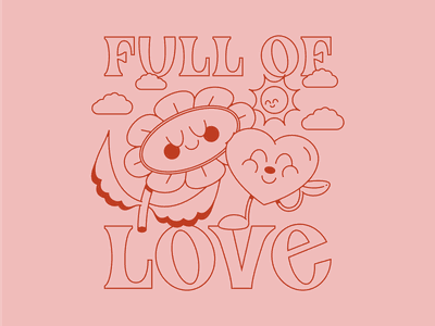 Valentines 2021 dribbbleweeklywarmup lettering typogaphy valentine day valentines valentine red pink heart love daisy flowers illustration design