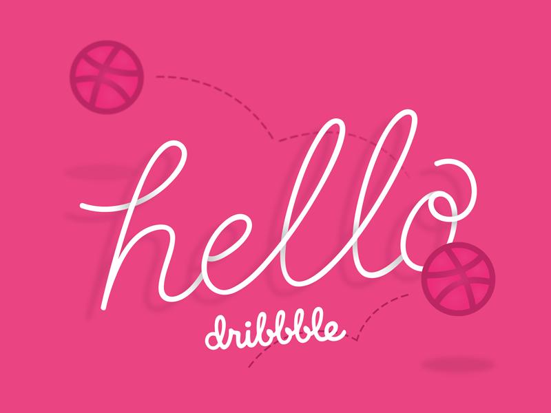 Dribbble Debut! hello debut