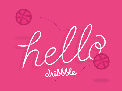 Dribbble Debut! dribbble debut dribbble lettering design hello debut