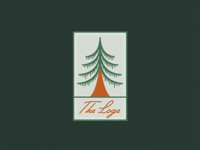 Loge Camps Badge concept brand identity illustration design patch pine tree outdoors camping camp tree badge logo branding design branding
