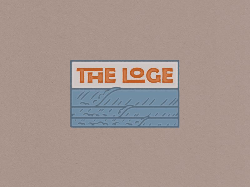 Loge Camps Badge beach waves outdoors logo camping camp branding design branding badge