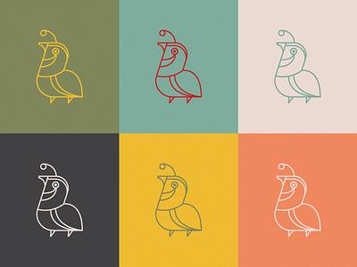 Quail Icon icon design iconography icon bird icon logo red blue pink design illustration birds bird quail
