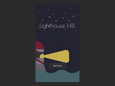 Lighthouse Hill: text-based game with bare visuals