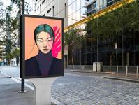 Natural Beauty Illustrated Portrait onelittleprintshop procreate portrait procreate art graphic design poster design pop art beauty art illustration portrait illustrated portrait beauty
