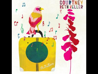 Summer finch promo illustration amp art foxglove texture music bird finch