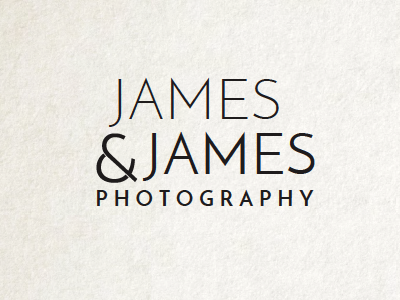 James & James identity design branding logo